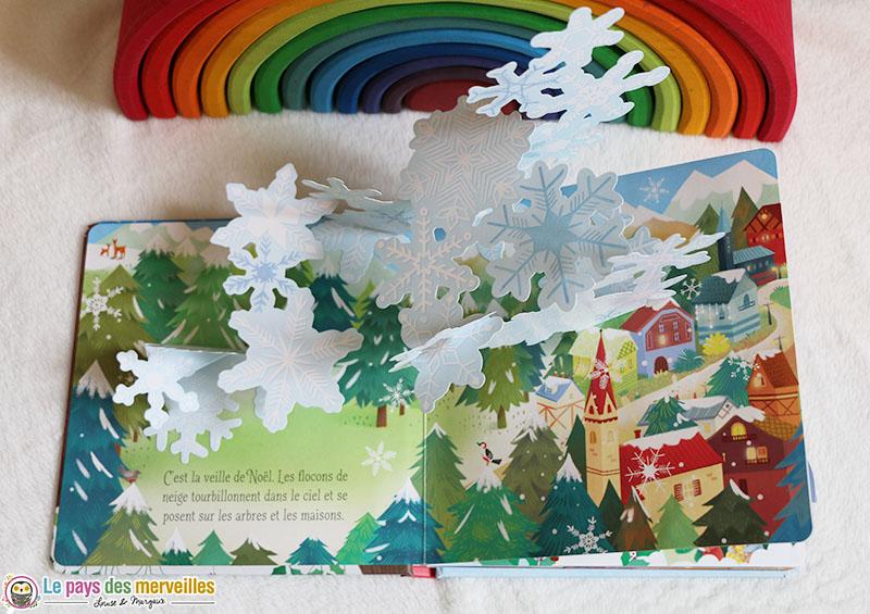 Livre avec des animations sur le thème de Noël