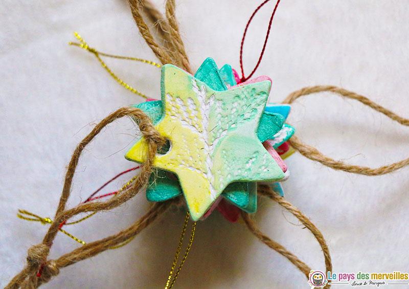 décorations en pâte autodurcissante pour le marché de Noël