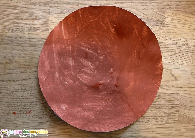 Cercle dessiné grâce au contour d'une assiette