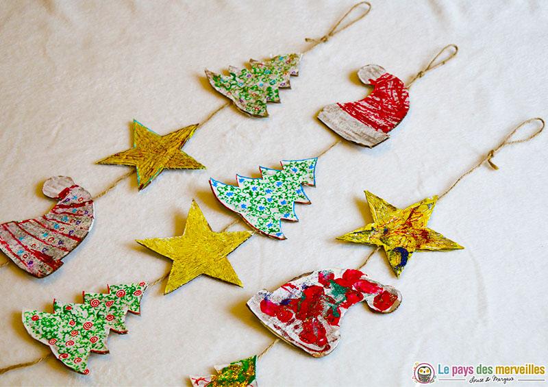 Guirlande de Noël en carton DIY