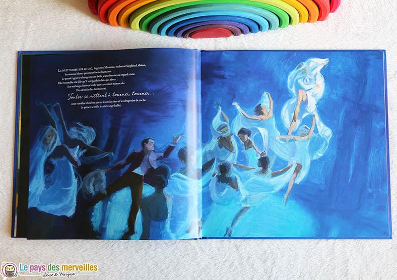 illustrations du lac des cygnes de tchaikovsky par Olivier Desvaux