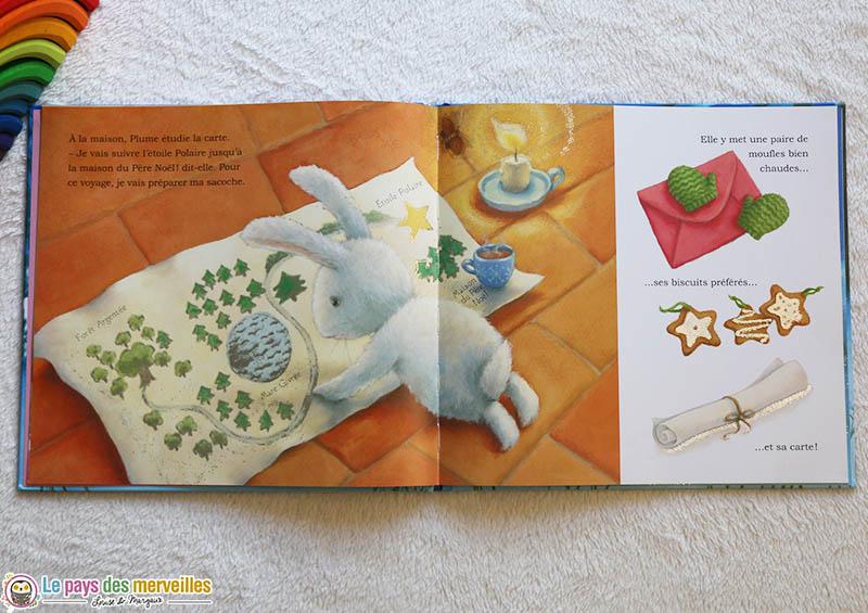 livre de Noël avec le lapin Plume