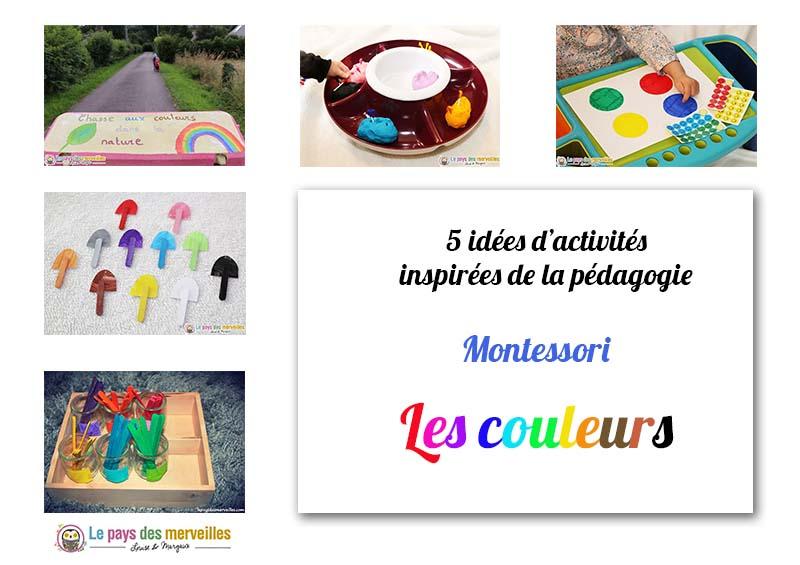 activités sur les couleurs inspirées de la pédagogie Montessori