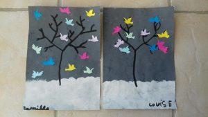 """Arbre d'hiver selon l'album """"l'arbre et l'hiver"""" de Melissa Pigois"""