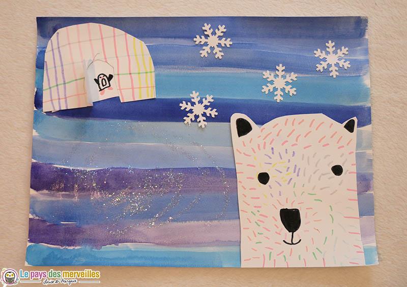 Art visuel sur le thème de l'hiver CP