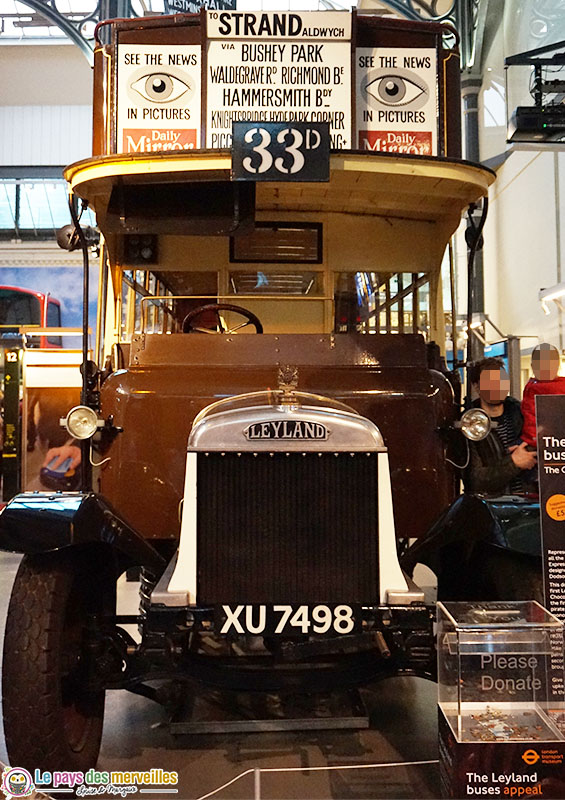 Ancien bus Londoniens Musée
