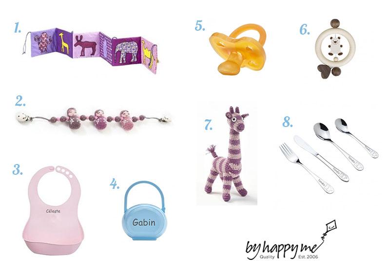 Idées cadeaux pour les bébés sur le site ByHappyMe