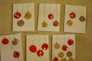 Cartes de voeux boules de Noël