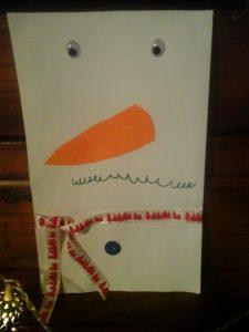 Carte de voeux bonhomme de neige