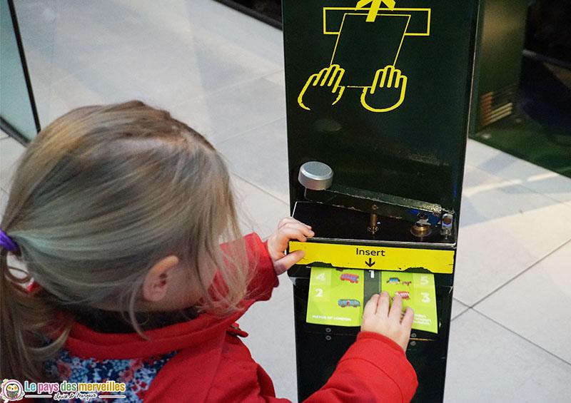 Animation ludique au musée des transports de Londres