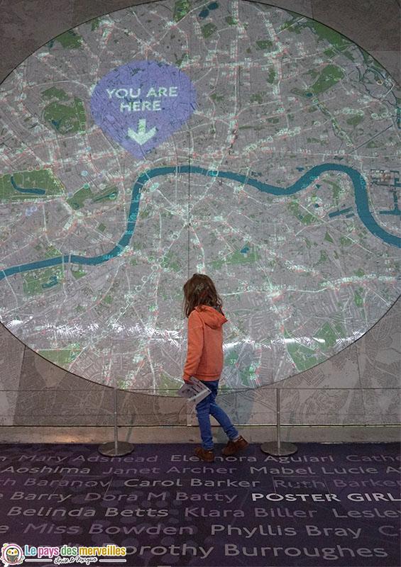 Carte de Londres Géante
