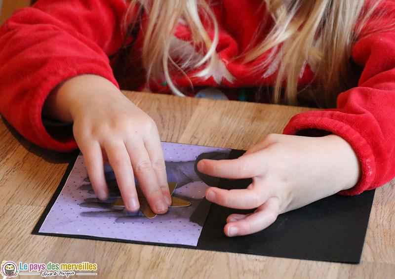 coller une étoile sur une photo de main