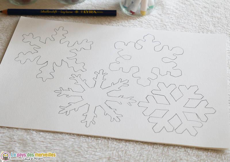 coloriages flocons de neige