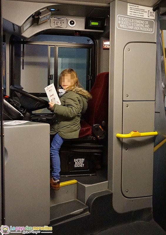 Conduire un bus au musée des transports de Londres