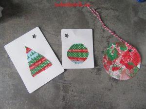 Cartes de voeux avec de la peinture et du masking tape
