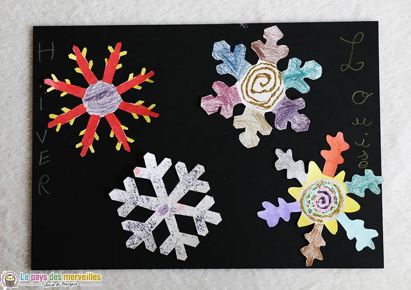 Invitation à créer hiver par un enfant de 6 ans