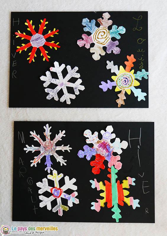 invitation à créer des flocons de neige