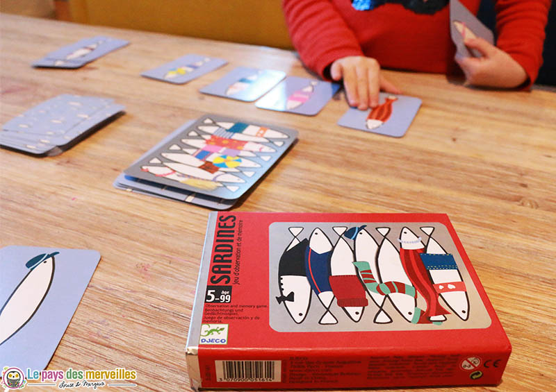 Jeu de cartes Sardines de djeco à partir de 5 ans