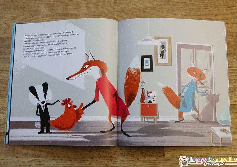 illustrations du livre Le déménagement de Maryse Cocotte