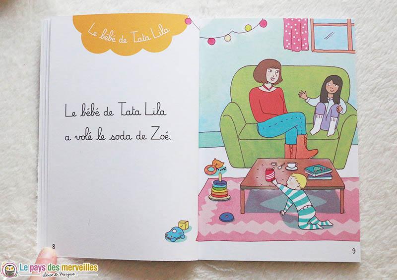 Exemple de texte dans un livre montessori niveau 1