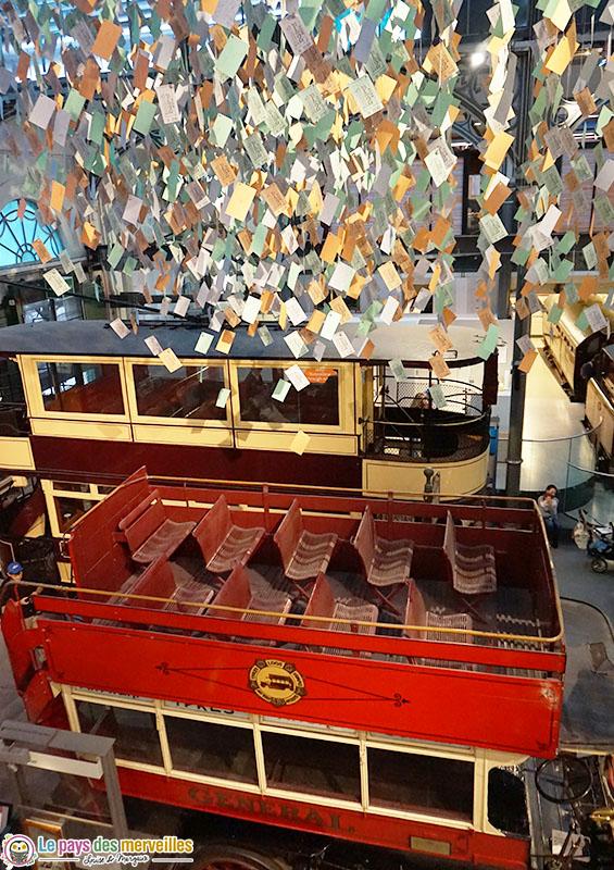 Décoration tickets de bus musée des transports de Londres