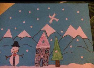 Paysage d'hiver par un enfant de 7 ans
