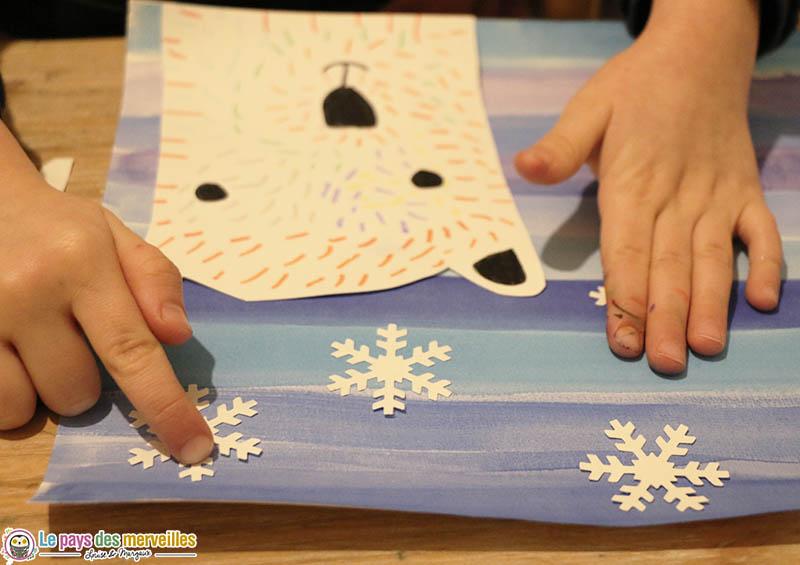 Flocons de neige avec une perforatrice