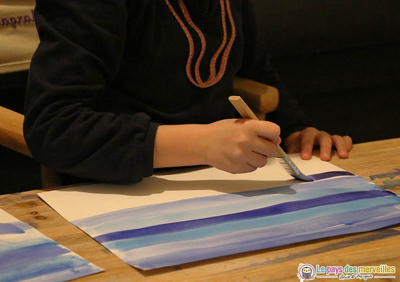 Peindre des lignes horizontales