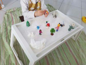 plateau de jeu libre sur le thème de l'hiver