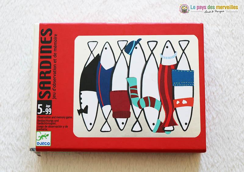Jeu de cartes Sardines de DJECO