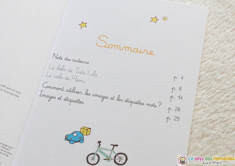Sommaire collection Mes premières lectures Montessori