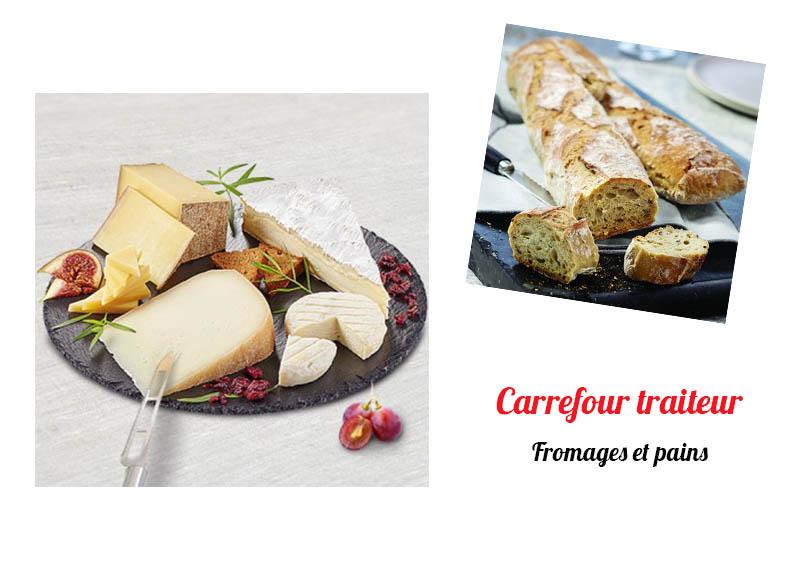 carrefour traiteur fromages et pain