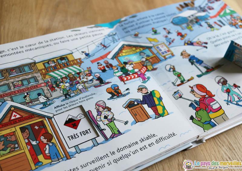 """illustrations du livre """"La station de ski"""" des éditions Milan"""