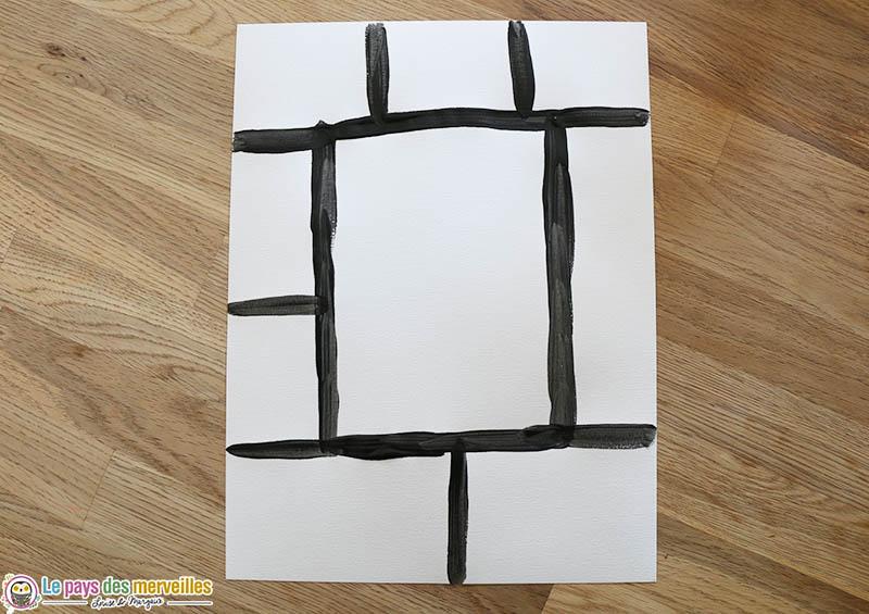 diviser une feuille en 9 rectangles
