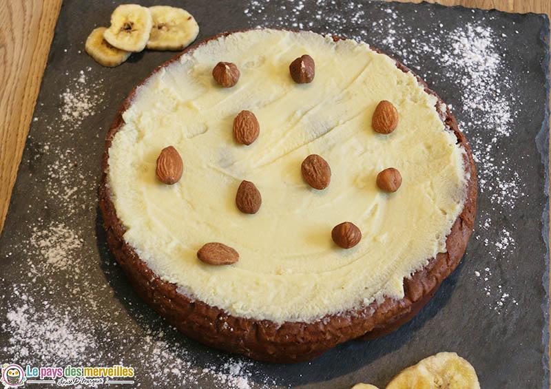 Gâteau au chocolat et à la mascarpone