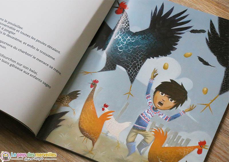 Nicolo dans les illustrations du livre La Befana