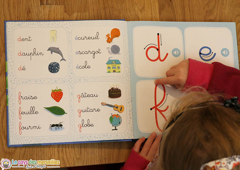 lettres rugueuses tracé Montessori