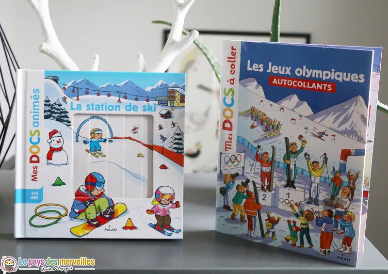 """Mes docs animés """"La station de ski"""" et Mes docs à coller """"Les Jeux olympiques"""""""