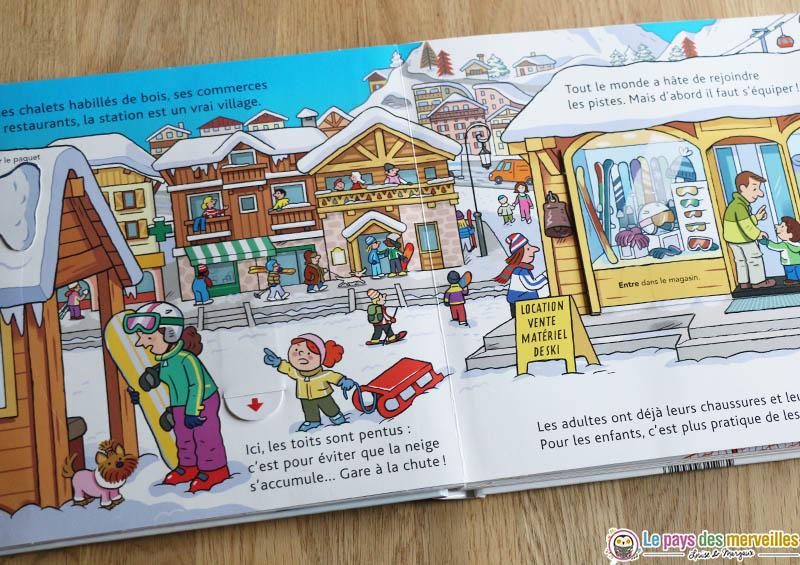livre enfant sur le thème du ski