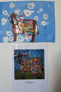 Blooming cow à la manière de Karla Gerard
