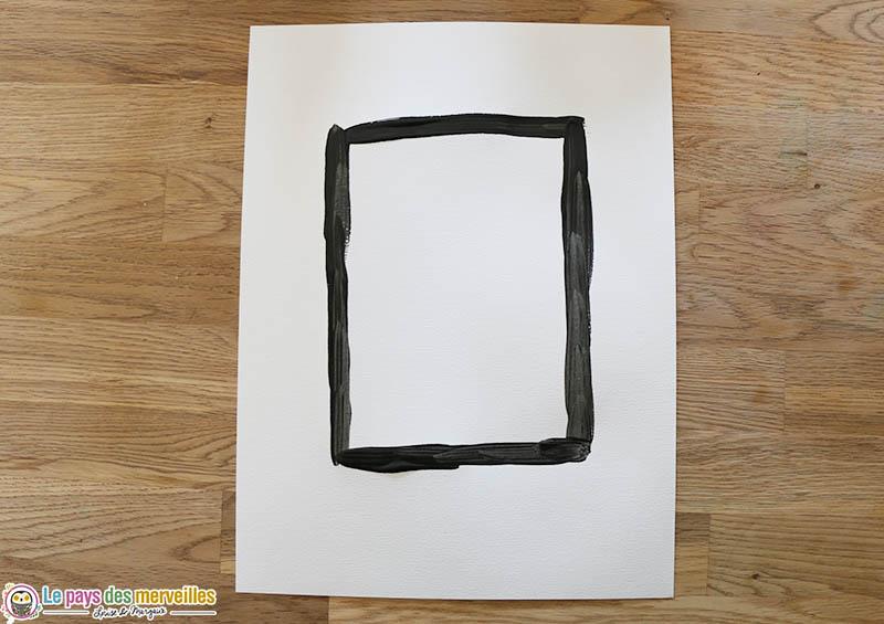 Peindre un rectangle noir