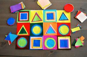 tableau des formes à la manière de Kandinsky