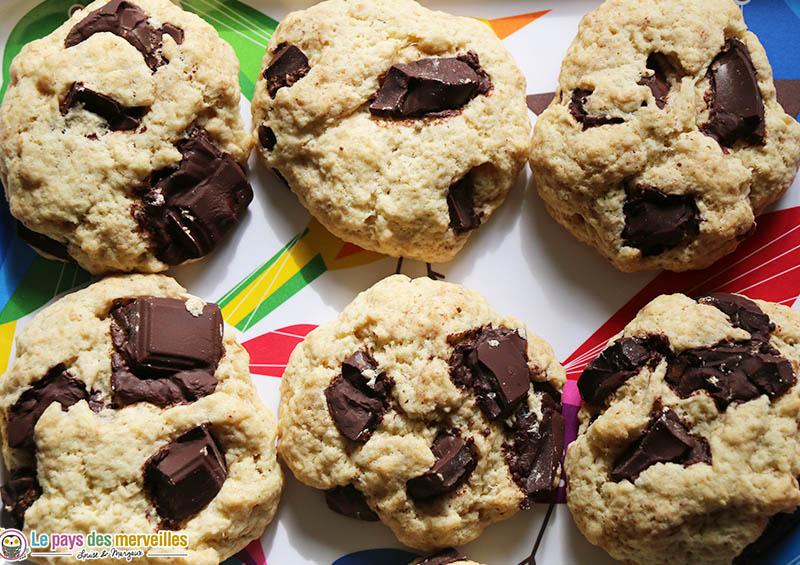 Cookies au chocolat et sans oeufs