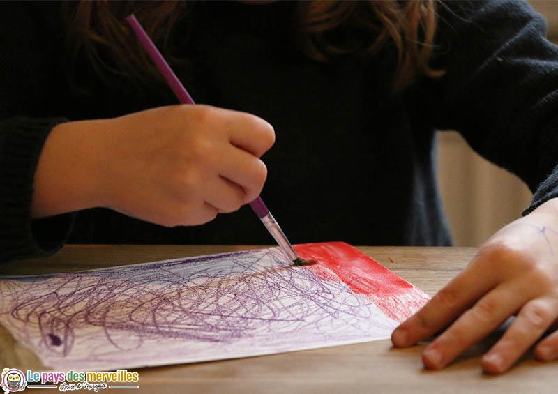 Fonctionnement des crayons de couleur aquarellables