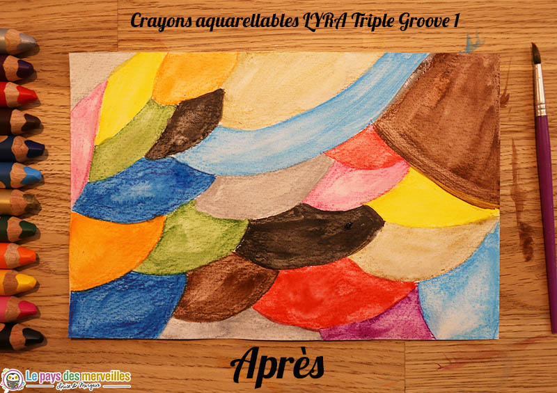 Crayons de couleur aquarellables Lyra Triple Groove 1 après