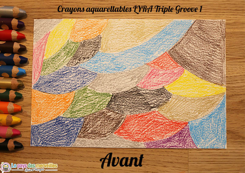 Crayons de couleur aquarellables Lyra Triple Groove 1 avant