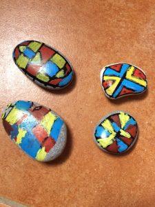 galet à la manière de Mondrian