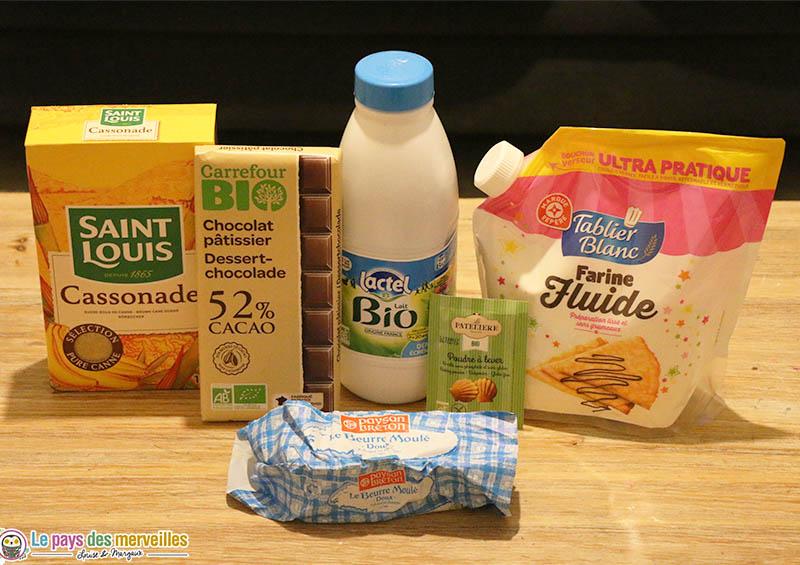 Ingrédients pour réaliser des cookies sans oeufs