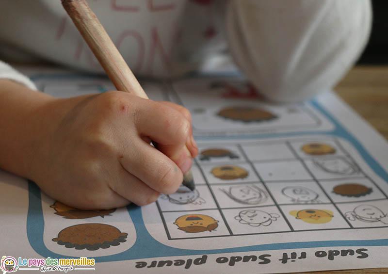 Sudoku illustré sur le thème des émotions