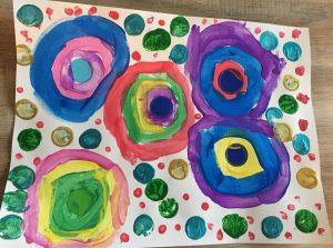 oeuvre inspirée de Kandinsky en maternelle
